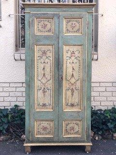 Rare Venetian Italian Painted 19th Century Armoire