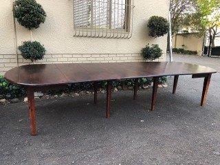 14 Seater Solid Indonesian Hardwood Dining Dropside Table