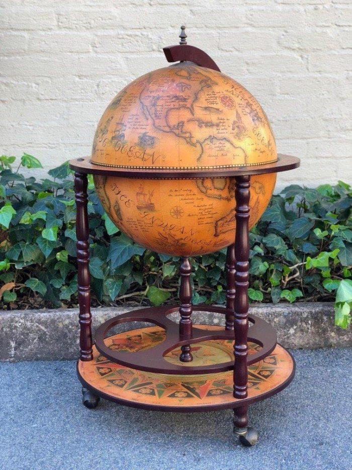World Globe Cocktail Cabinet