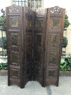 Antique Wooden Screen