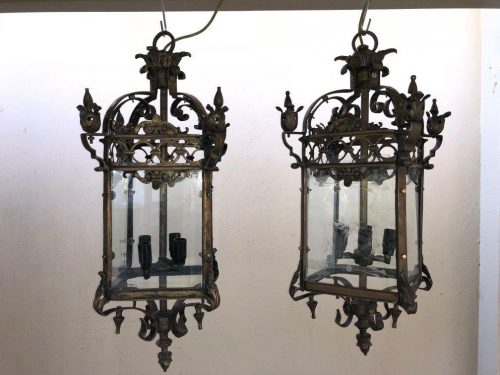 Pair of Square Lanterns