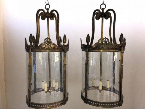 Pair of Round Lanterns