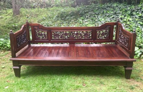 Carved Wood Daybed
