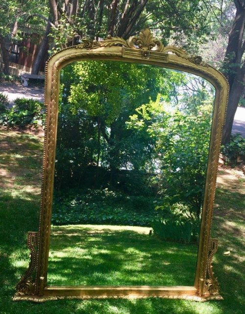 French Style Gilded Overmantel Mirror