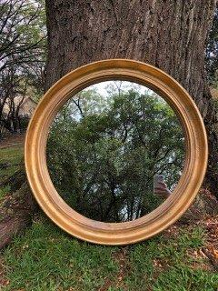 Round Gilded Mirror - SMALL