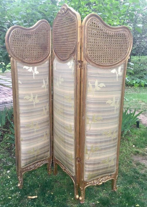 French Gilded Three-Fold Screen