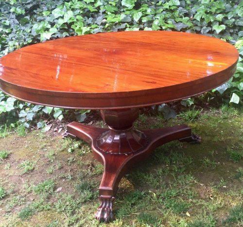 Victorian Mahogany Circular Dining Table