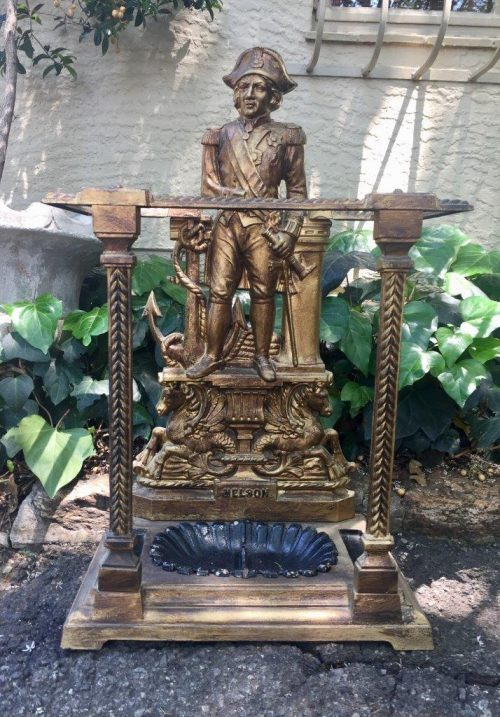 "An early Victorian Brass Umbrella stand made in honour of Lord Nelson after the Battle of Trafalgar""  Circa 1810 English"