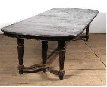 Oak Dining Table with Six Legs & Gallery Base