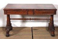 William IV rosewood library table with drawer