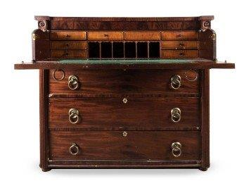 A Mahogany Secretaire Chest of Drawers