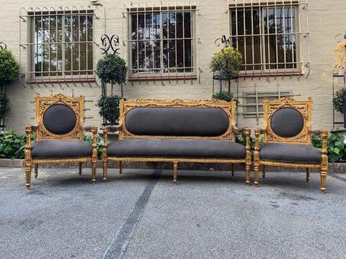 Set of 3 (Settee & 2x armchairs)