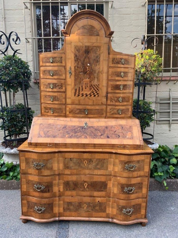 Antique German (Prussian) Bureau in Marquetry