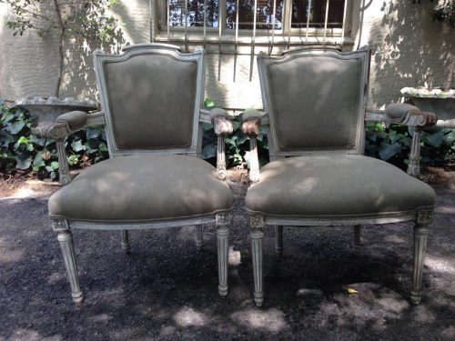 Pair of French Neo Classical Armchairs *New upholstery*