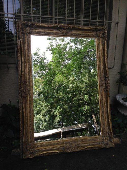 Large Gilt-Painted Wall Mirror