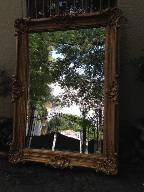 Large Rectangular Gilt Painted Mirror