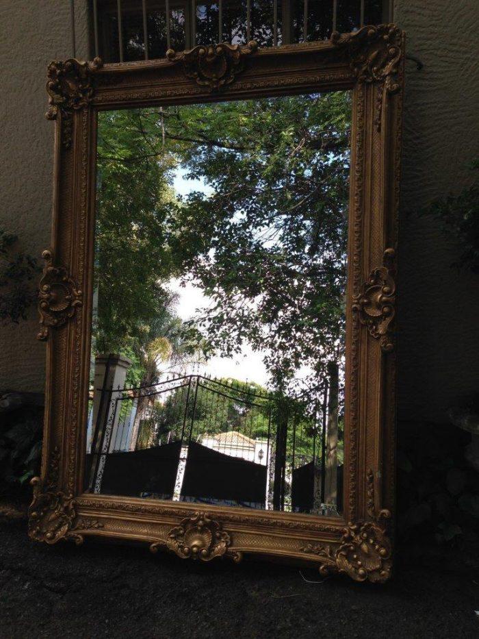Large Rectangular Gilt Painted Mirror