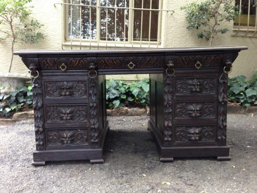 Jacobean Partners Desk. Circa 1880