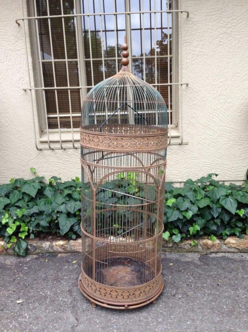 Antique/vintage wrought iron bird cage