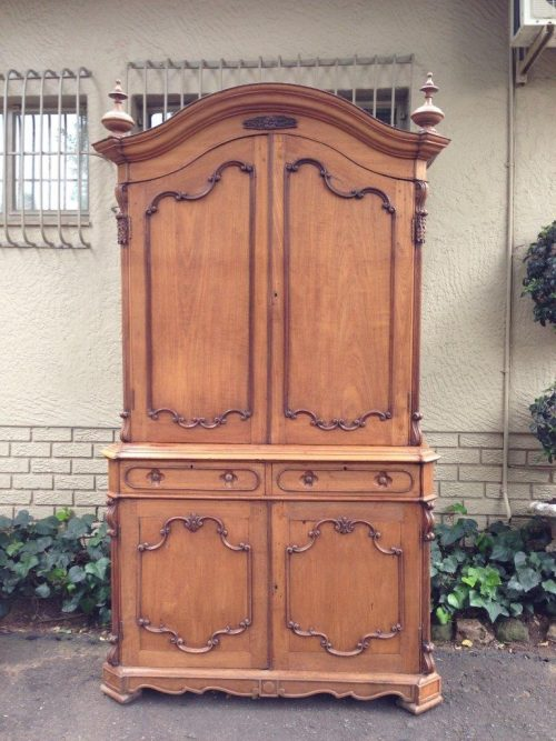 Indo Dutch Rosewood And Teak Linen Press
