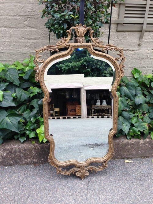 Gilt Framed Mirror with scrolling foliate detail