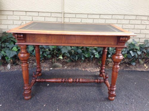 A Victorian Walnut Writing Table