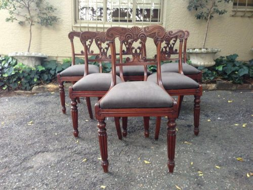 A Set Of Six William Iv Mahogany Dining Chairs