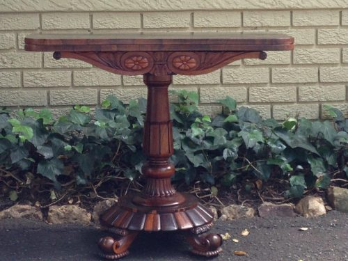 A Victorian Rosewood Tea Table