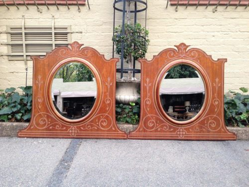 A Pair of Late Victorian Mahogany Framed Mirrors