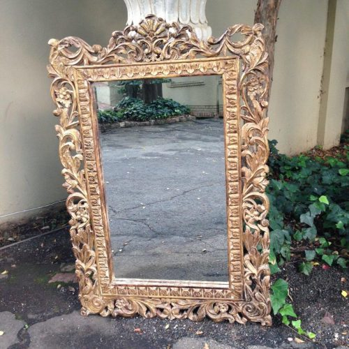 A Gilt Painted Wooden Mirror