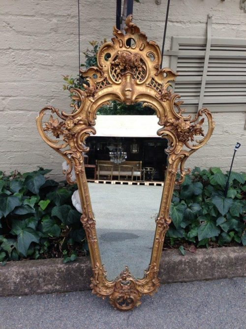 Gilded and Ornate Rococo style mirror