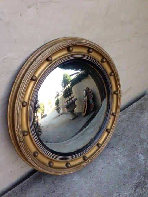 Victorian gilt framed convex mirror