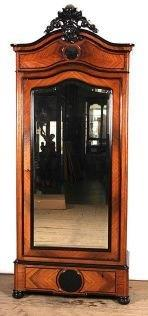 French rosewood armoire/bonnetiere with mirrored door