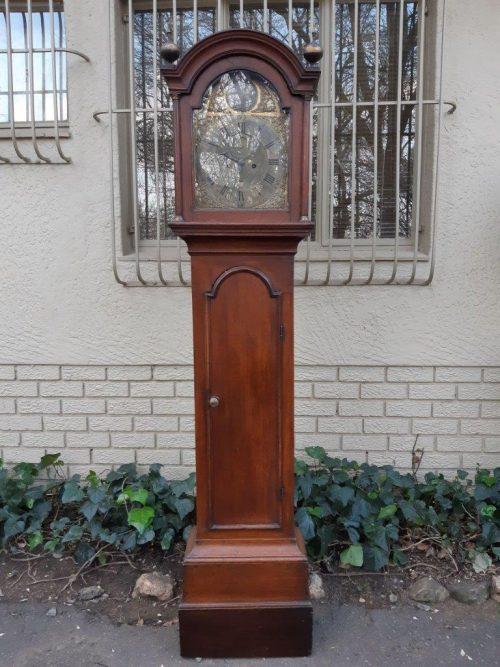George III oak grandfather clock by John Carter