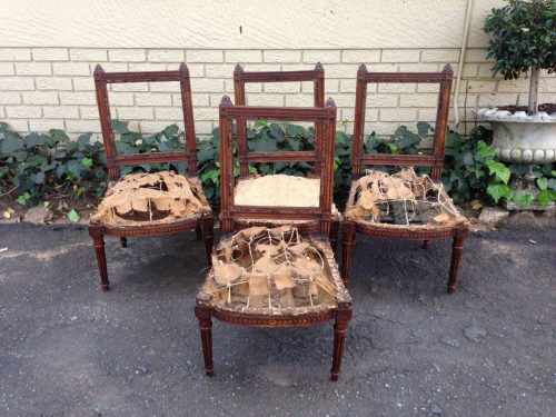 Set of 4 19th Century French Oak Chairs