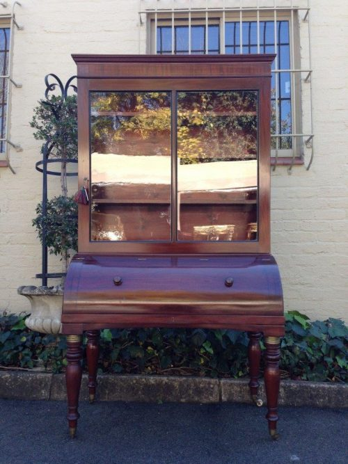 Victorian Rosewood Bureau/Secretaire Bookcase in Original Condition with Secret Compartment On The Top) Circa 1880