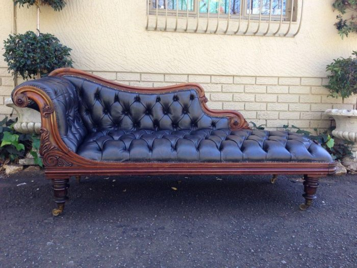 William IV Rosewood chaise longue
