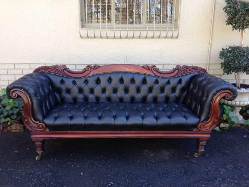 An Early Victorian Mahogany Sofa