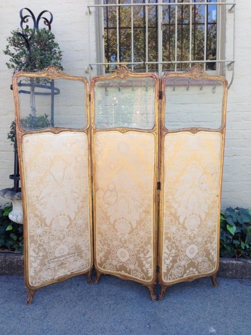 A Late 19th Century Louis XIV Rococo-Style Screen