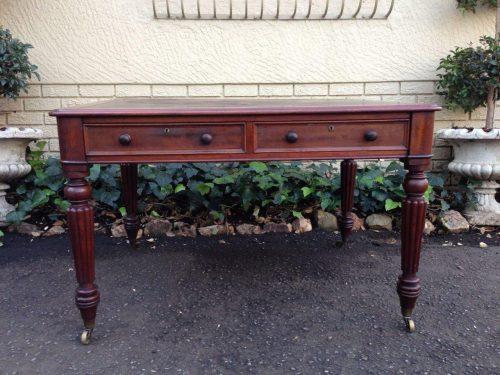 Victorian mahogany partners writing table