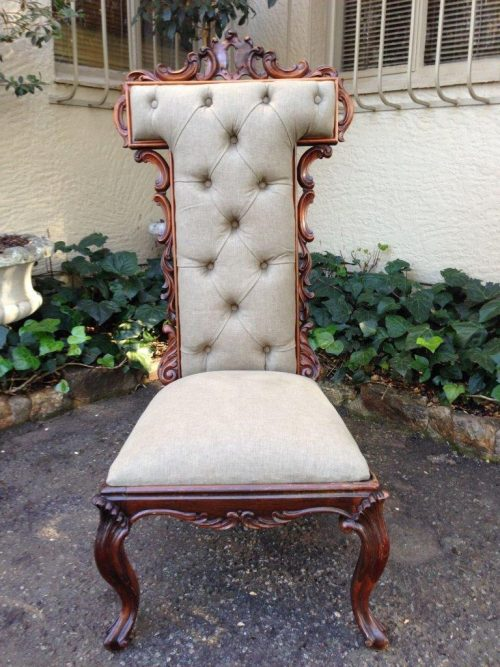 A Victorian Carved Rosewood Highback Chair Circa 1880