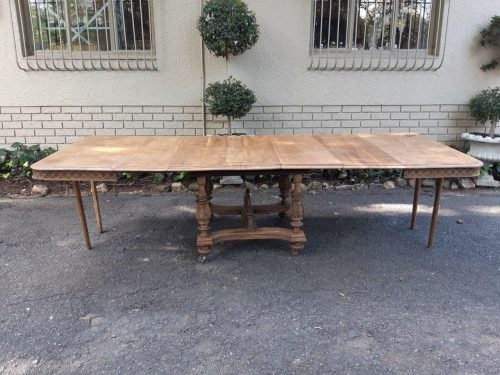 A 19th Century French  Antiquee Dining Extension  Table