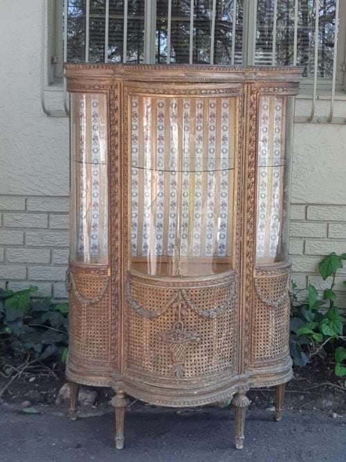 Gilded French Style Display Cabinet