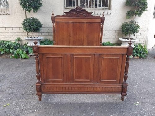 Oak French 3/4 Bed Head And Footboard