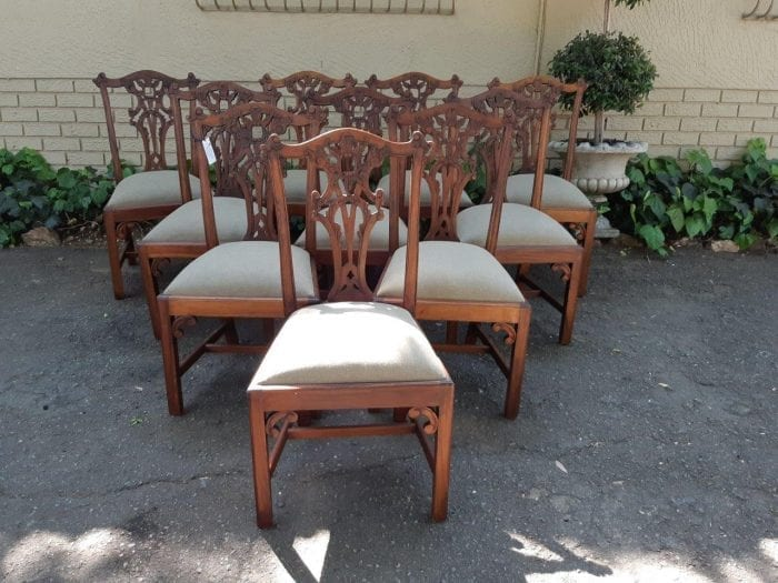 Set Of 10 Victorian Style Mahogany Dining Chairs