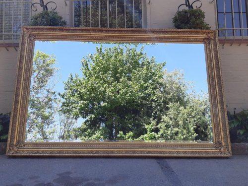 A Massive Rectangular Bevelled Mirror / Headboard