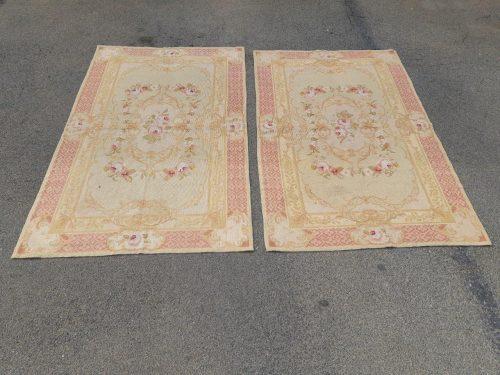 Pair Of Vintage Aubusson Tapestries