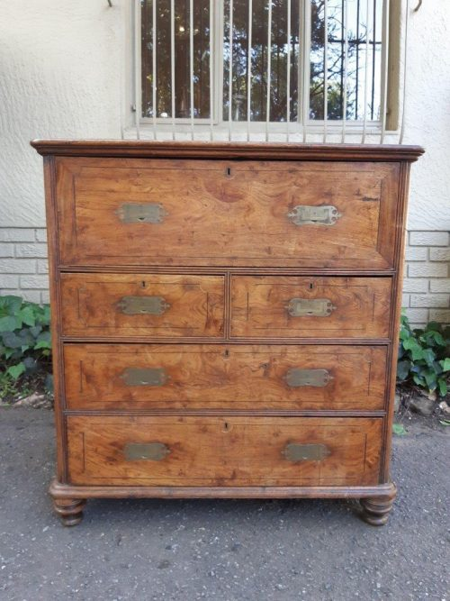 Victorian Mahogany Military Chest/Secretaire