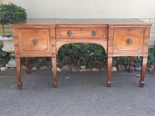 Victorian Mahogany And Inlaid Sideboard