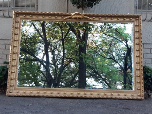 Large Gilt-Painted Mirror